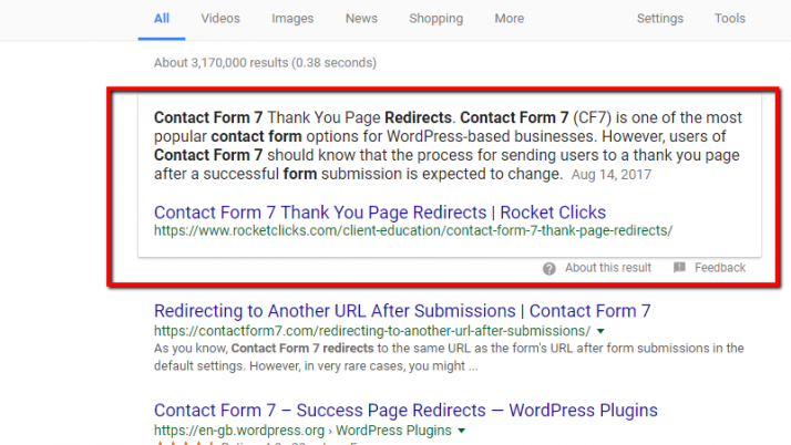 How to target featured snippet opportunities